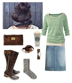 """""""Cozy Winters"""" by createdfeminine ❤ liked on Polyvore featuring Cambio, FOSSIL, Fat Face, H&M and SOREL"""