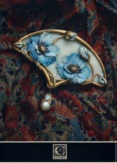 "Коллекция ""Cabinet of curiosities"" Art Nouveau Jewelry, Jewelry Art, Unique Jewelry, Vintage Jewelry, Handmade Jewelry, Jewelry Design, Metal Clay Jewelry, Enamel Jewelry, Polymer Clay Crafts"