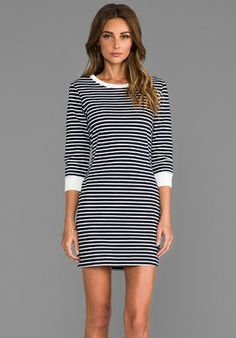 Theory Bimini Zamion Dress in Navy - Lyst