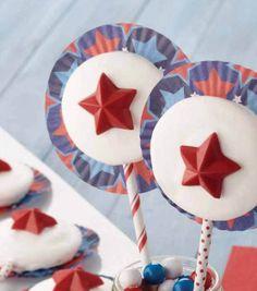 @Wilton Cake Decorating Cake Decorating Patriotic Whoopie Pie Pop Recipe | Find full recipe and supplies online at Joann.com