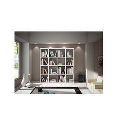 Libreria design scaffale moderno bianco lucido arredo casa ...
