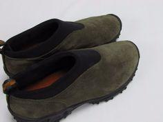 Merrell Performance Mens Winter Moc Shoes 9 Gunsmoke Brown Black Slip On Suede #Merrell #LoafersSlipOnsMocs