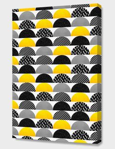 """My favorite candy - Yellow and black"", Numbered Edition Canvas Print by Elisabeth Fredriksson - From $69.00 - Curioos"