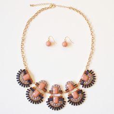 Geometric Bib Necklace | Lemon Drop Boutique