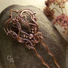 Заколки ручной работы. Ярмарка Мастеров - ручная работа Шпилька для волос. Handmade.