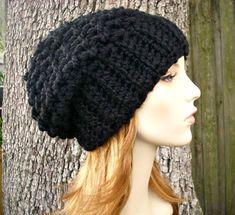 Crochet Hat Pattern Womens Hat Mens Hat How To Crochet | Etsy Slouchy Beanie Pattern, Crochet Slouchy Hat, Knitted Hats, Quick Crochet, Knit Or Crochet, Crochet Hats, Winter Hats For Women, Easy Crochet Patterns, Hat Patterns