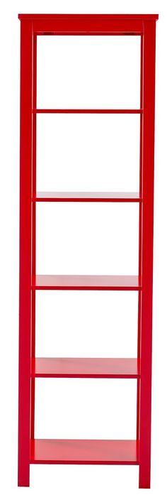 Regal »Trendy«. Diese schönen Einzelmöbel finden überall ihren Platz! In 4 trendigen Farben, wahlweise weiß, schwarz, rot oder blau lackiert. Aus massivem Heveaholz und MDF. Das Regal ist überaus praktisch. Ohne Rückwand. Fachinnenmaße (B/T/H): je 47/24/28 cm.   Erhältlich in 2 Größen: Klein: Mit 3 Fächern. Außenmaße (B/T/H): 50/30/105 cm, Groß: Mit 5 Fächern. Außenmaße (B/T/H): 50/30/170 cm,  ...