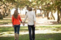 Fall Charleston wedding engagement from Amy Prikazsky Photography
