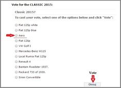 """Please, vote for Aero 30, 1939 in the """"Classic of the Year 2015"""" car contest: http://klassikauto.pl/klasyk-roku/"""