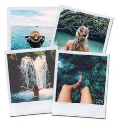 """Water Polaroids"" by darkestangel13 ❤ liked on Polyvore featuring art"