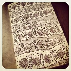 Steve Simpson sketchbook pattern - trees