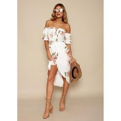 Kiss & Tell Off Shoulder Dress  ||  Floral print dress  Hi-low hem  Midi length Off shoulder neckline Adjustable tie front  Ruffled top & arm details Front slit  Elastic top  Lined  Cotton, po https://www.mymallmetro.com/products/kiss-tell-off-shoulder-dress?utm_campaign=crowdfire&utm_content=crowdfire&utm_medium=social&utm_source=pinterest