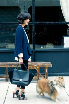 Celine & a collie ! I love it!
