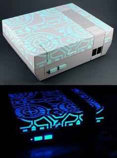 Refurb retro consoles - UV Tron Style Nintendo
