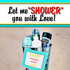 Your spouse will have a reason to love April. Surprise your spouse with a basket of their favorite shower goodies. This post includes a free printable.