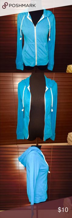 Brand Fitted Zip-down Lightweight Hoodie  New without tags. Never worn! In perfect condition. Very lightweight hoodie. Aeropostale Tops Sweatshirts & Hoodies