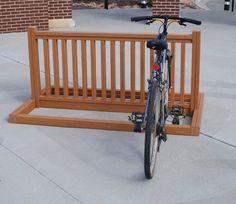 Bike Parking Racks | Outdoor Bike Racks |. Use old crib rail?
