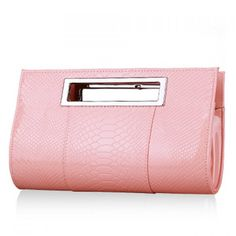 Adorable pink clutch.