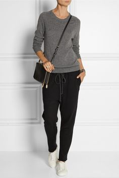 The Elder Statesman | Cashmere and linen-blend track pants | NET-A-PORTER.COM
