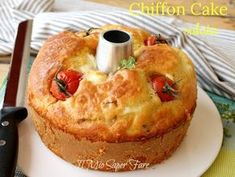 Chiffon cake salata sofficissima ricetta torta rustica alta e morbida il mio saper fare Just Cooking, Cooking Time, Cooking Recipes, Torta Chiffon, American Cake, Salty Foods, No Salt Recipes, Angel Cake, Muffins