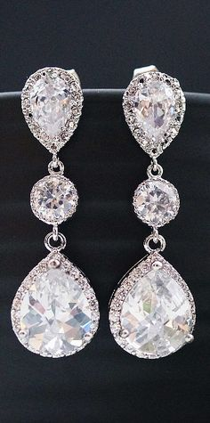 Wedding jewelry earrings