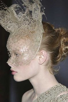 phillip treacy for valentino lace masks via the terrier and the lobster