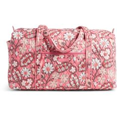 Vera Bradley Large Duffel Travel Bag ($43) ❤ liked on Polyvore featuring bags, luggage, purses and blush pink