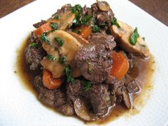 SCD Beef Burgundy (*Use SCD legal tomato paste & dry red wine...)