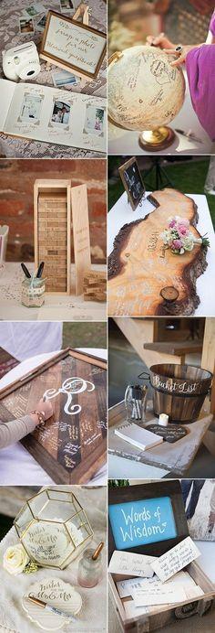 creative wedding guest book ideas for 2018 #weddingideas #weddingguestbooks