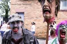 Me as a Zombie Nurse with my friend Jeff Zombie Walk 11'