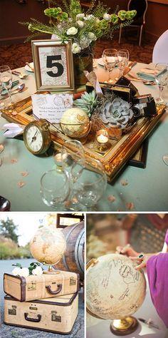 Bodas tematicas de Viajes: Ideas para decorar #decoracionbodas #weddingdecor #travel