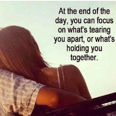 Concentrate on what's keeping you together #always