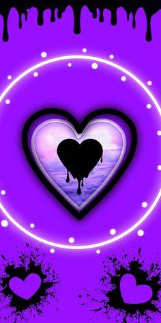 Heart Wallpaper Hd, Butterfly Wallpaper Iphone, Love Wallpaper, Nature Wallpaper, Iphone Wallpaper, Love Heart Images, Love You Images, Heart Pictures, Purple Art