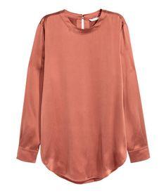 Zijden blouse | Roest | Dames | H&M NL