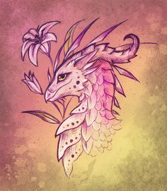 Lily dragon - design by AlviaAlcedo.deviantart.com on @deviantART