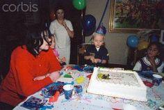 Michael Jackson celebrating his son Prince's 6th birthday on 13th February 2003.