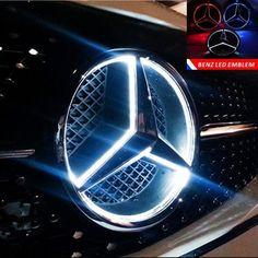 Mercedes Benz GLC GLA GLE GLS Front Grille Star Badge Mirror Face Emblem Black