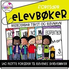 Forsider til elevbøker Comic Books, Teaching, Comics, School, Cover, 2nd Grade Class, Schools, Learning, Comic Book