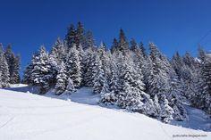 Skiing through this beautiful winter landscape. Silvretta-Montafon, Austria
