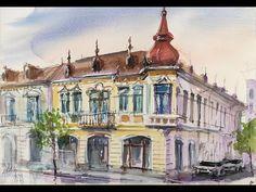 #painting #watercolour #art Neo baroque stile house painting with watercolour. - YouTube Watercolour Art, House Painting, Baroque, Taj Mahal, Facebook, Videos, Youtube, Travel, Viajes