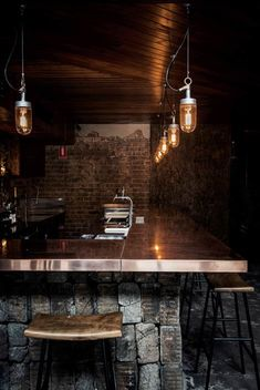 Luchetti Krelle completes Sydney bar based on a New York loft Pub Design, Restaurant Design, New York Loft, Ny Loft, Max House, Café Bistro, Copper Interior, Jazz Bar, Cigar Bar