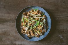 "From the ""Small Victories"" cookbook, Kimchi Fried Rice with Scallion Salad by Julia Turshen, High Falls Food Co-op member. Kimchi Fried Rice, Small Victories, Fall Recipes, Fries, High Falls, Cooking Recipes, Vegetarian, Salad, Meals"