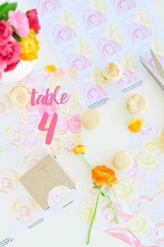 DIY Floral Wedding Stationery