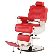 """CONSTANTINE"" Barber Chair in Red, Red Barber Chairs"