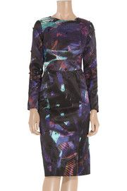 #racingstyle  ErdemMathilda printed cotton-blend dress