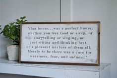 PERFECT HOUSE JRR Tolkien Quote   distressed rustic wall decor   painted shabby chic wall plaque   urban farmhouse sign  