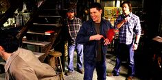 (gif) Jim, Jared, Jensen, and Misha [Oh lord, this cast.]