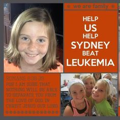 This brave little girl is in the fight of her life! She needs a hero to win her battle with leukemia - and it just might be you! An incredible story!