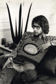 Yves Saint Laurent, 1970. Photo attributed to Helmut Newton