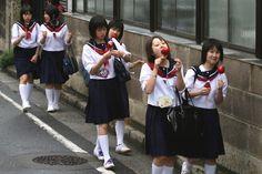Middal school girls japan